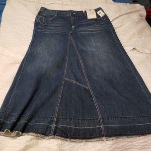Nwt denim maxi skirt 18 American rag